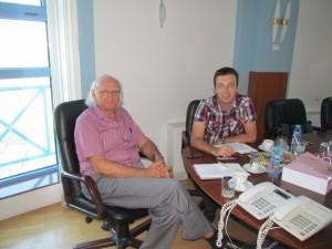 Bloger Nenad Blagojević sa Slobodanom Pavlovićem na intervjuu u Slobomiru.