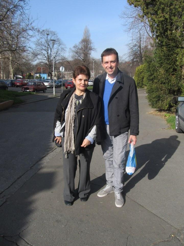 Snežana sa autorom intervjua i bloga