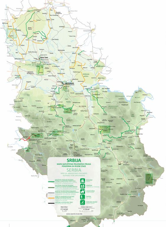 Mapa Srbije sa trasama_562x768