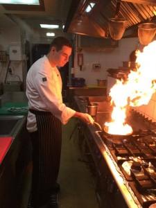 Jovan Pavicu u kuhinji restorana