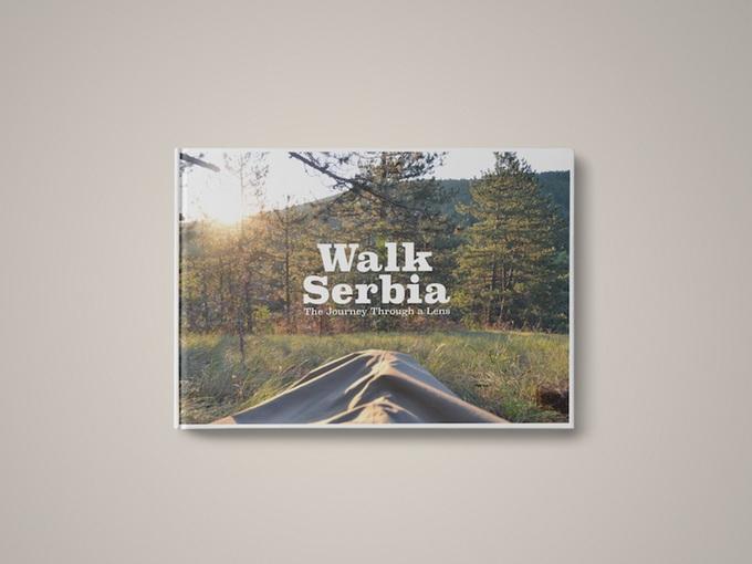 Korice knjige Walk Serbia