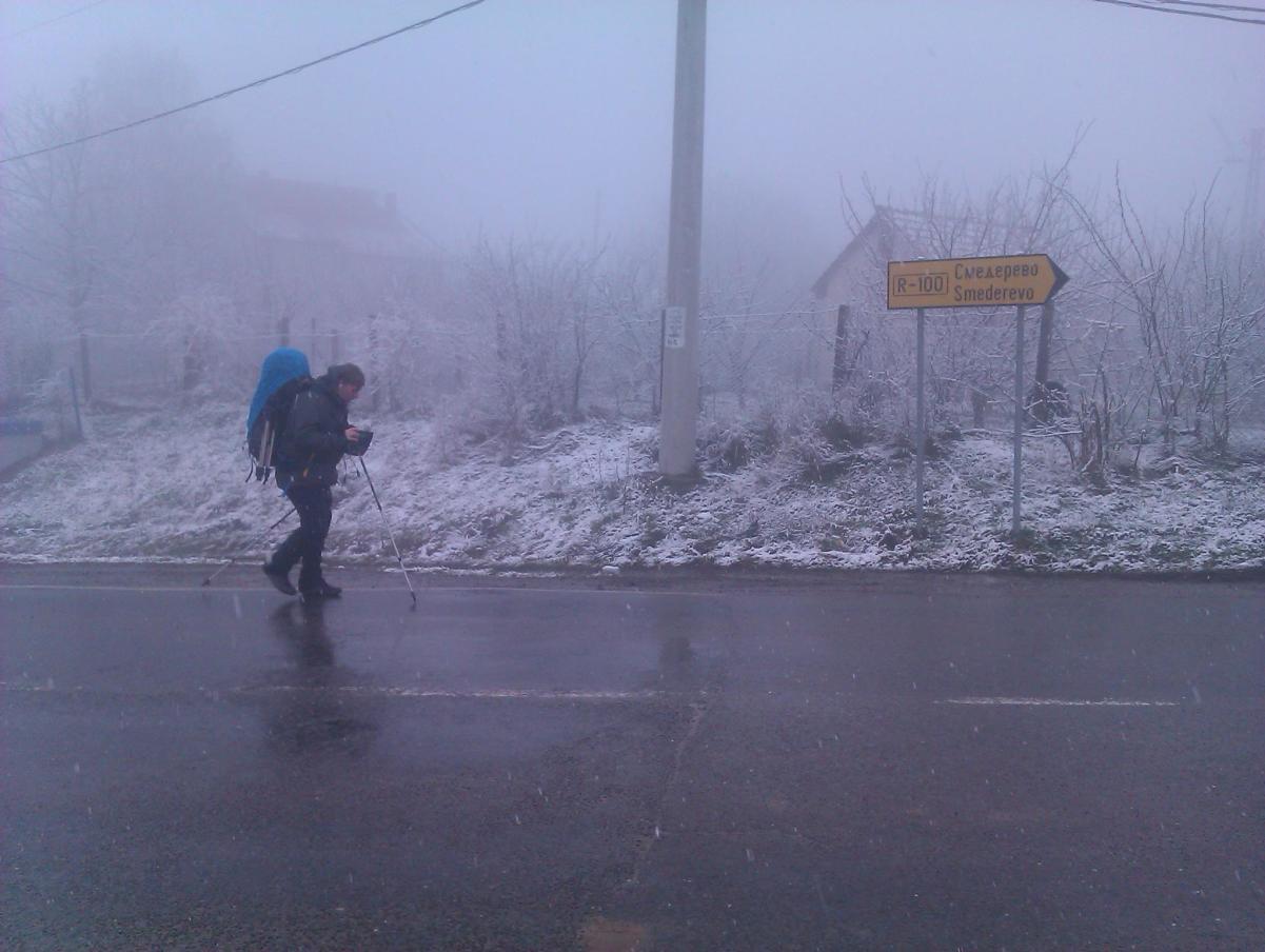 Po snegu ka Smederevu