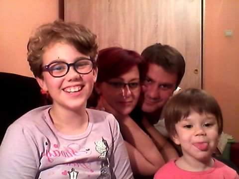 Miroslav Sarac sa porodicom