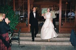 Marija i Aleksandar kao mlada i mladoženja na svojoj velikoj svadbi.