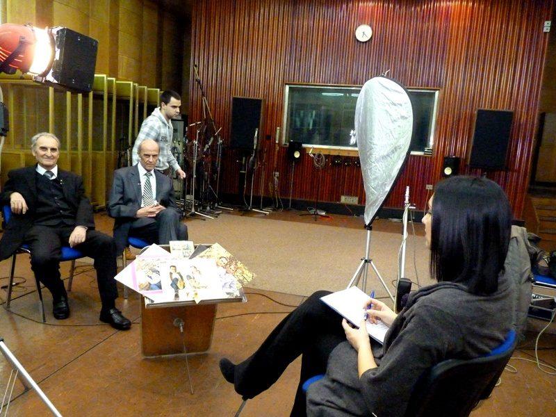 Na snimanju emisije o Braci Bajic za seriju Dok je sveta i veka