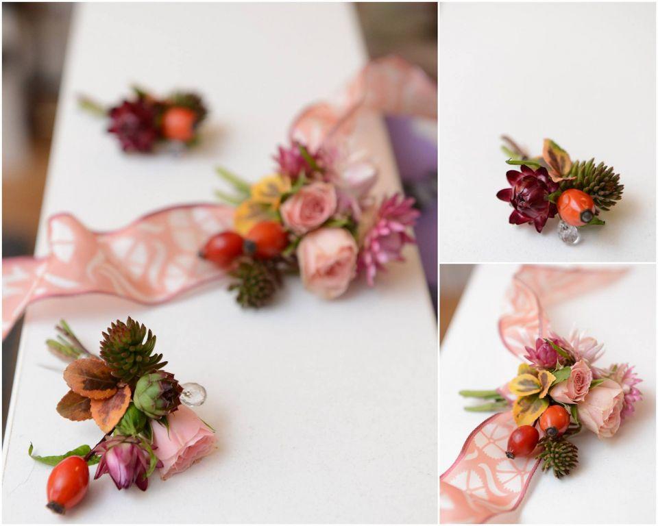 Rever - cvet za mladoženju i kuma i narukvica - cvet za kumu