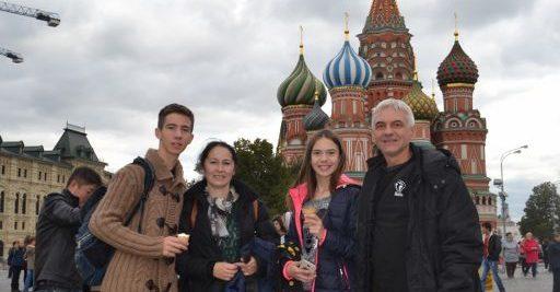 Porodica Drndarević na Crvenom trgu u Moskvi